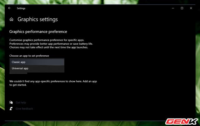 Cách thiết lập sử dụng Card màn hình mặc định cho từng ứng dụng trên Windows 10 ảnh 4