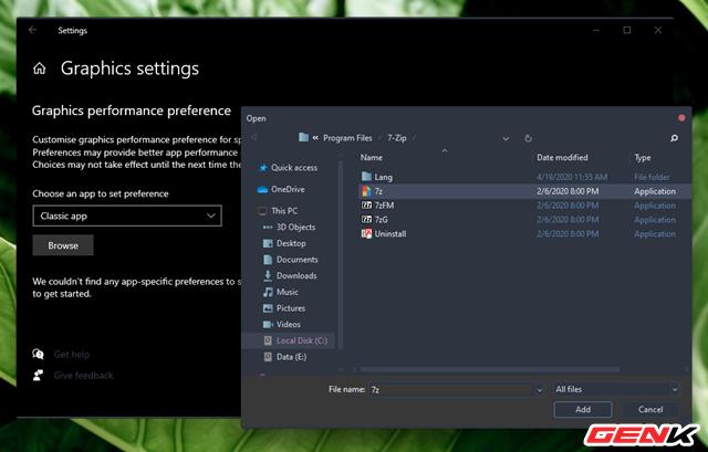 Cách thiết lập sử dụng Card màn hình mặc định cho từng ứng dụng trên Windows 10 ảnh 5