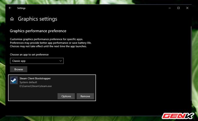 Cách thiết lập sử dụng Card màn hình mặc định cho từng ứng dụng trên Windows 10 ảnh 6