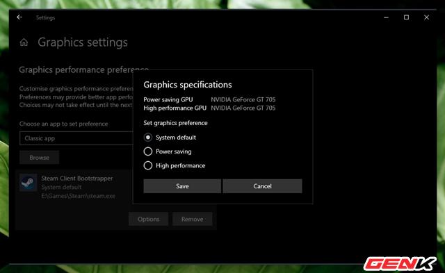 Cách thiết lập sử dụng Card màn hình mặc định cho từng ứng dụng trên Windows 10 ảnh 7