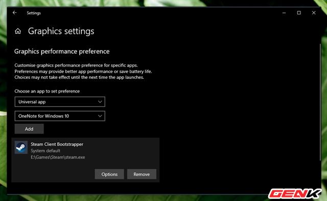 Cách thiết lập sử dụng Card màn hình mặc định cho từng ứng dụng trên Windows 10 ảnh 8