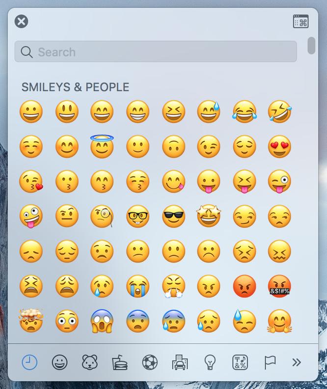 Máy Mac có bàn phím emoji riêng