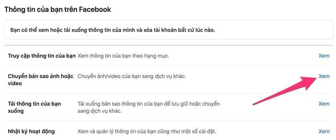 Cách sao lưu toàn bộ ảnh và video từ Facebook sang Google Photos ảnh 5