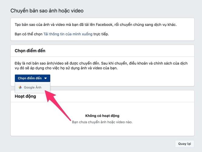 Cách sao lưu toàn bộ ảnh và video từ Facebook sang Google Photos ảnh 6