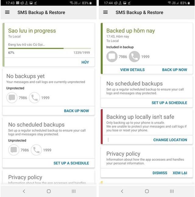 Hướng dẫn sao lưu và phục hồi tin nhắn, nhật ký cuộc gọi trên smartphone ảnh 5