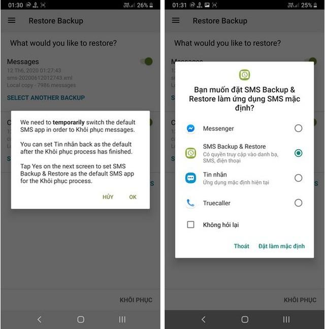 Hướng dẫn sao lưu và phục hồi tin nhắn, nhật ký cuộc gọi trên smartphone ảnh 8