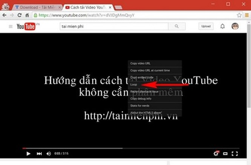 Thủ thuật tự động phát lại video trên YouTube ảnh 1