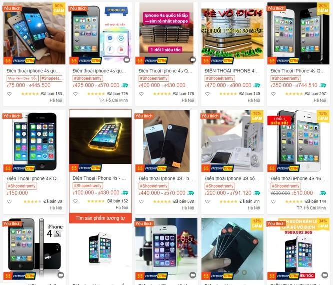 Những chiếc Iphone đời cũ được bán với giá rất rẻ