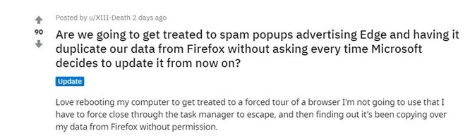 """Microsoft Edge nhân Chromium bị tố """"bí mật"""" nhập dữ liệu từ Firefox không xin phép người dùng ảnh 2"""