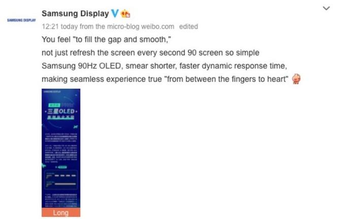 Samsung khẳng định màn hình OLED 90Hz tốt ngang ngửa màn LCD 120Hz ảnh 2