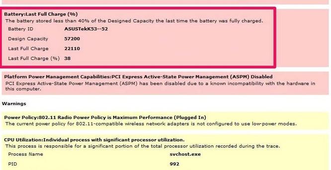 Mẹo kiểm tra pin laptop không cần sử dụng phần mềm bên ngoài ảnh 5