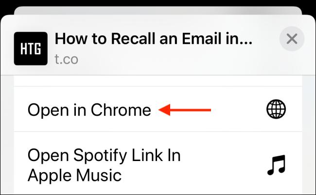 Cách để iPhone, iPad tự động mở trang web bằng trình duyệt Chrome ảnh 9