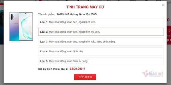 Sự phổ biến của chương trình Trade in (Thu cũ - đổi mới) của Samsung cũng khiến giá Note 20 trên thị trường đồ cũ tụt thê thảm.
