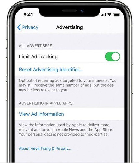 Apple từng tung ra một bản cập nhật hồi tháng 2 để hạn chế quảng cáo theo dấu.