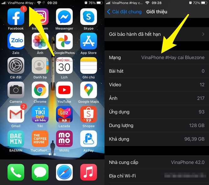Cách kiểm tra nhanh iPhone, iPad là bản khóa mạng hay bản quốc tế ảnh 2