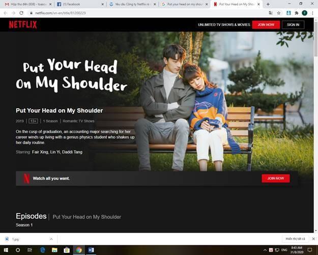 """Netflix đã cắt bỏ đoạn phim có nội dung vi phạm chủ quyền Việt Nam trong phim """"Put your head on my shoulder"""" ."""