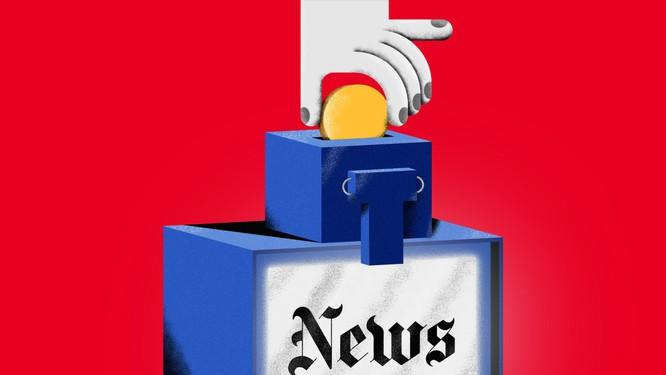Google và Facebook đang gây thiệt hại nặng nề cho những đơn vị xuất bản tin tức truyền thống. Ảnh: Sam Whittney.