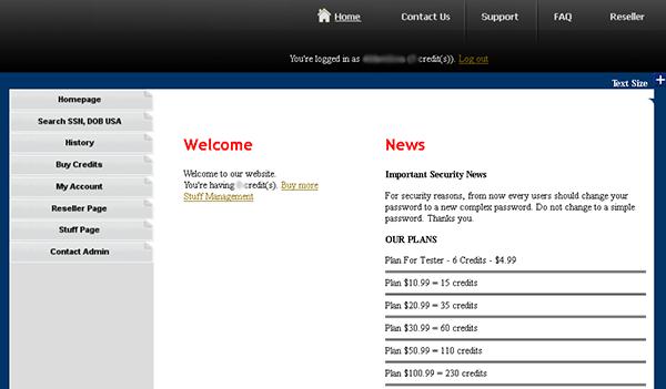 Superget - website được Ngô Minh Hiếu lập ra để bán các dữ liệu người dùng.