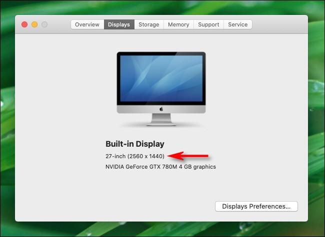 Cách xem độ phân giải màn hình trên máy Mac ảnh 4