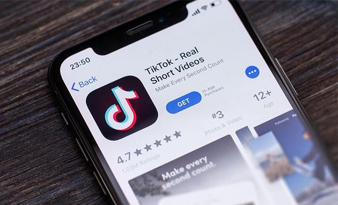 Ứng dụng TikTok trên hệ điều hành iOS. Ảnh: FT
