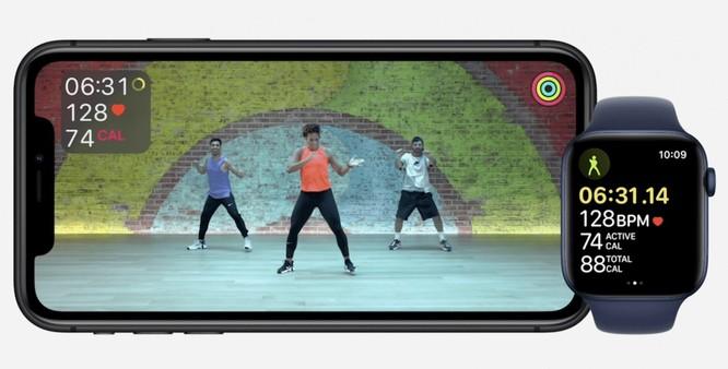 Điểm mạnh của Fitness+ là khả năng đồng bộ bài tập với Apple Watch, cho phép người dùng theo dõi tập luyện dễ hơn. Ảnh: Apple.
