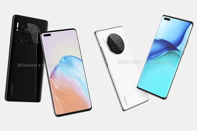 Thiết kế bị rò rỉ của Huawei Mate 40 series.