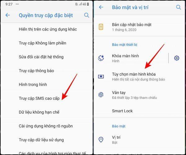 Kiểm soát quyền truy cập SMS cao cấp