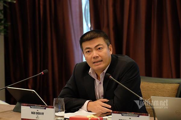Ông Ngô Diên Hy, Giám đốc Công ty Công nghệ thông tin VNPT đề nghị thúc đẩy việc cung cấp dịch vụ chữ ký số cá nhân dùng một lần để đẩy nhanh chuyển đổi số. Ảnh: Trọng Đạt