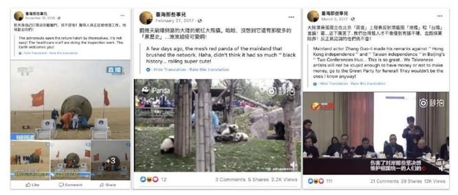 Các bài đăng ban đầu của những tài khoản này thường có nội dung vui vẻ, ca ngợi thành tựu của Trung Quốc. Ảnh: Graphika.