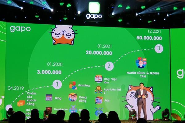 Mạng xã hội Việt Gapo hiện có hơn 4 triệu người dùng nhưng không rõ lượng người dùng thường xuyên là bao nhiêu (DAU, MAU)