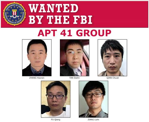 Nhóm tin tặc quốc tế APT41 hiện đang bị truy nã bởi FBI (Mỹ)