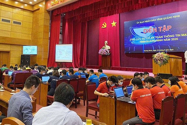 Một buổi diễn tập ứng cứu sự cố an toàn thông tin mạng ở Quảng Ninh