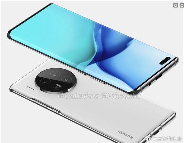 Mẫu Huawei Mate 40 Pro với màn hình