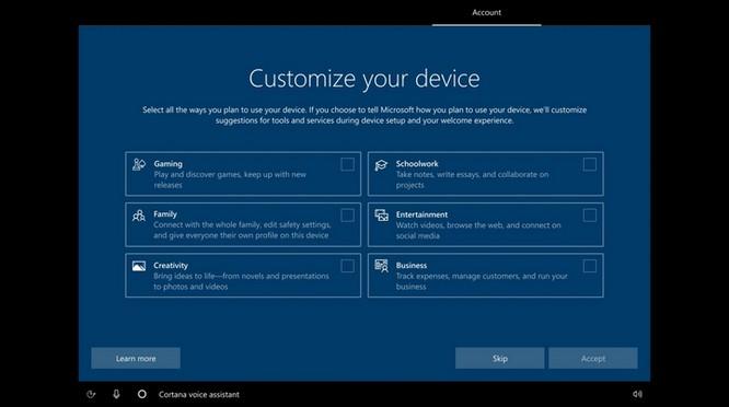 Windows 10 sẽ cho người dùng cấu hình hệ thông tùy ý trong quá trình cài đặt ảnh 2