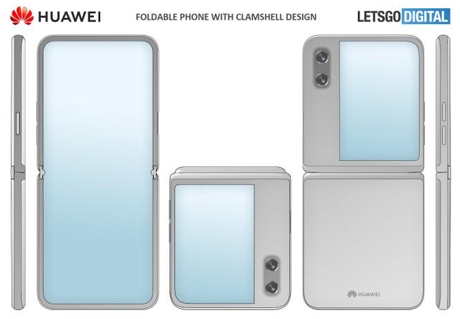 Huawei đăng ký bằng sáng chế thiết kế smartphone gập dạng vỏ sò, có màn hình lớn bên ngoài ảnh 1