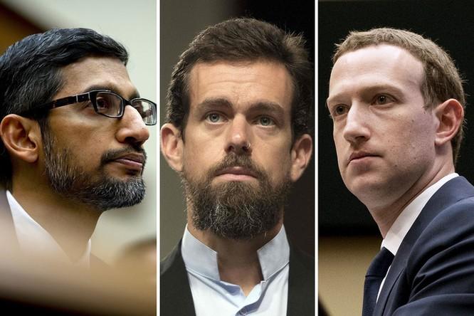 CEO Facebook, Google và Twitter điều trần tối nay ảnh 1