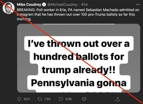 Thông tin sai lệch tăng cao trong ngày bầu cử Mỹ ảnh 1