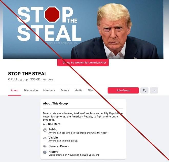 Tin giả tràn ngập, Facebook phải xóa nhóm ủng hộ ông Trump ảnh 1