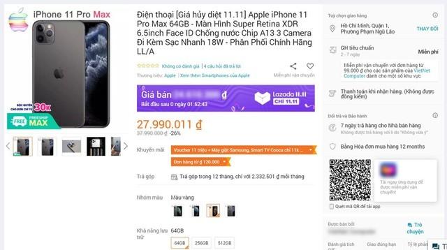 iPhone, tai nghe giảm giá hơn 10 triệu đồng là trò lừa đảo ngày sale 11/11 ảnh 1