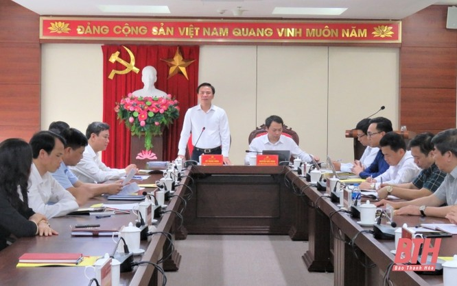 Đoàn công tác Bộ Thông tin và Truyền thông làm việc với Ban Thường vụ Thành uỷ TP Thanh Hoá ảnh 1