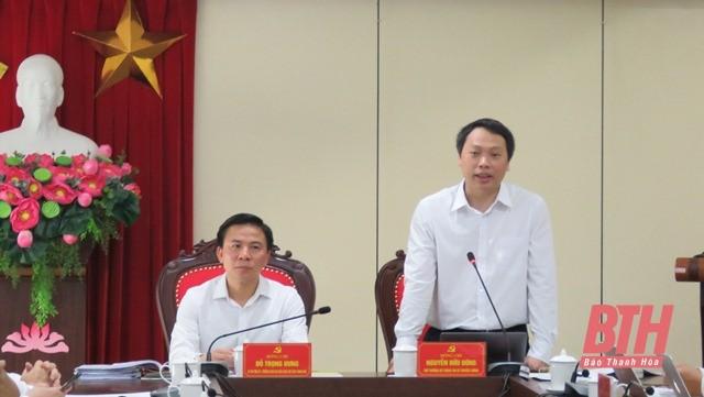 Đoàn công tác Bộ Thông tin và Truyền thông làm việc với Ban Thường vụ Thành uỷ TP Thanh Hoá ảnh 5