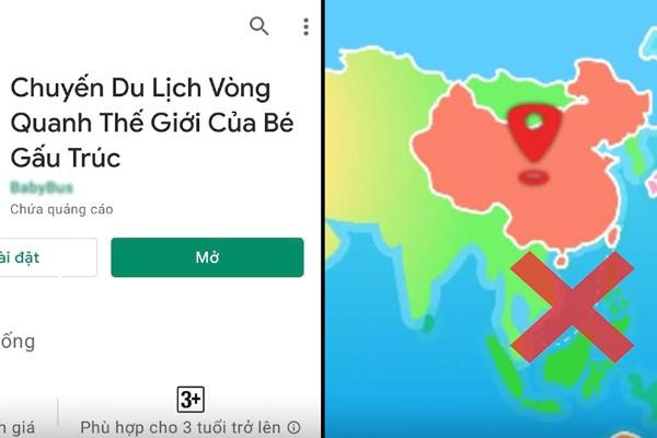 Cảnh giác game, văn hóa phẩm Trung Quốc chứa bản đồ phi pháp ảnh 1