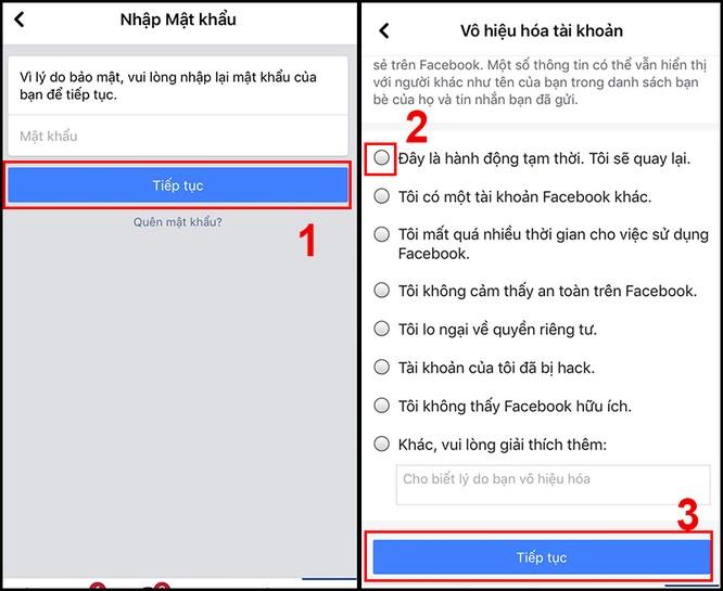 Hướng dẫn bạn khóa Facebook tạm thời bằng điện thoại ảnh 3