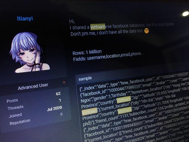 Hàng triệu tài khoản Facebook người dùng Việt bị hacker phát tán ảnh 1