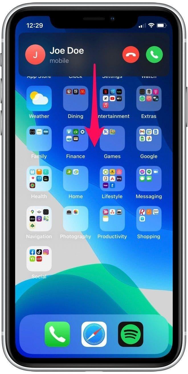 Hướng dẫn nhận cuộc gọi đến trên iOS 14 toàn màn hình ảnh 4