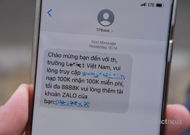 Giả mạo TPBank nhắn tin quảng bá cá cược ảnh 1