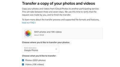 Apple cho chuyển ảnh từ iCloud sang Google Photos ảnh 1