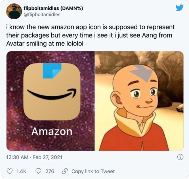 Tranh cãi vì logo mới của Amazon giống Hitler đang cười ảnh 2