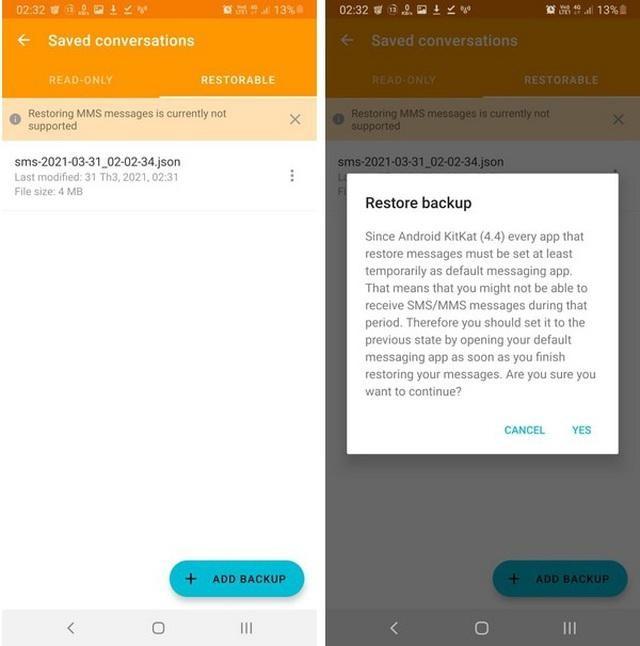 Thủ thuật giúp sao lưu và phục hồi toàn bộ tin nhắn trên smartphone ảnh 4