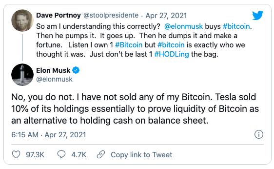Elon Musk: 'Tôi chưa bán một đồng Bitcoin nào' ảnh 1
